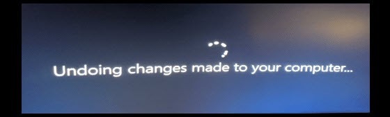 Undoing changes made to your computer Windows 11